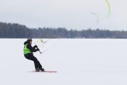 The competition for the title of kite ski class lasted longer than expected